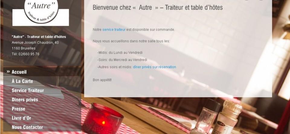 Autre-restaurant.be – Traiteur et table d'hôtes à Bruxelles