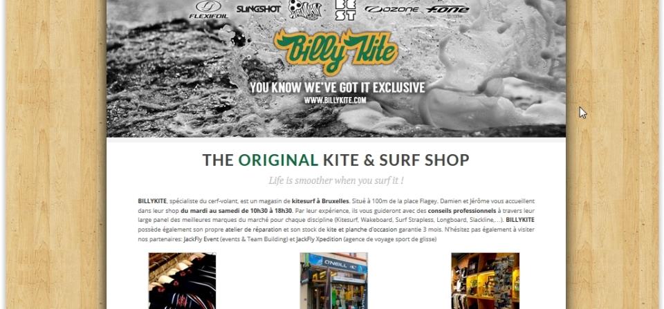 Billykite – Magasin de Kitesurf à Bruxelles